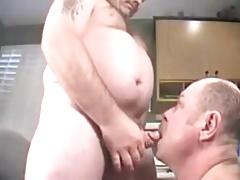 A older mature men sucking another men
