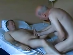 Two men fucking in the bed