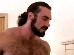 Muscle gay fucks his little bitch hard