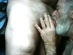 One mature old man suck the other mature old man's dick