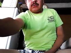 Mexican dad cums