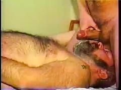 Shooting over daddy bears beard