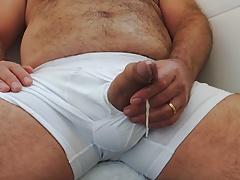 Hairy Daddy Handjob & Cumshot