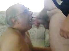 Old men sucking another old men's cock