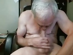 Grandpa sucks himself