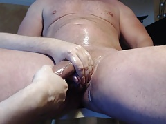 Me milk tease my hung Alpha stud - post cum tease