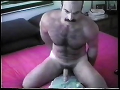 Fit daddy jerking off