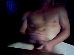 Horny grandpa Dean jerks his strong old cock