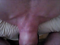 Gorgeous gymnast gobbles and gags on hung ginger daddy dick