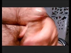 hot argentinian grandpa wanking and cumming