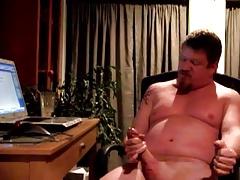 Verbal daddy bear stroking his cock