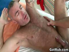 Two amazing hunks in sexy gay massage part1