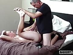 Creeper Dad Seduces Young Straight Virgin Into Barebacking