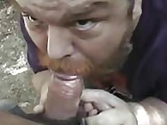 fat daddy sucks cock