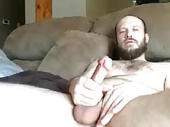 Cute Str8 Bearded Guy blows a Load on cam #18