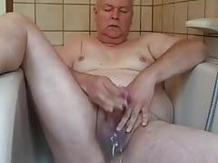 grandpa cum in shower