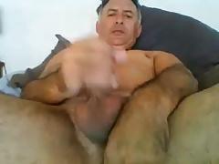 Hot Str8 Daddy shoots a Huge Load #29