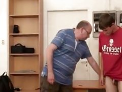 Daddy master teacher  punished boy for being late