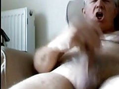 Dad stroking