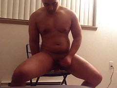 Jerking and taking dildo