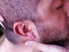 Bald Bear Beard Daddies Sucking Big Cock Deep Throat Blowjob