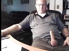 Handsome dad exposing his penis