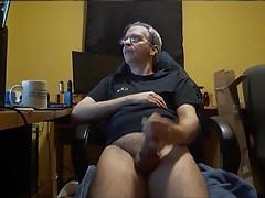 Nice dad wanking