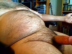 Fat daddy loves his belly and moans 2