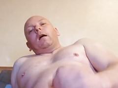 sexy bald dad cum 4