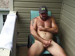 Porch Quick Daddy  (Outdoor Jerk Off & Cum )