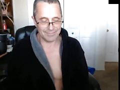 english dad flashes his hung cock