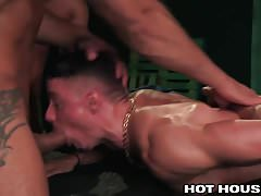 Austin Wolf & 3 Muscle Hunks Fucking - HOT DP DADDY GROUP
