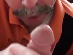 Moustache daddy sucking