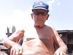 Grandpa John in slips (80 years)