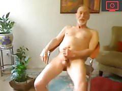 grandpa jerking off his cock