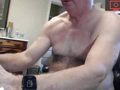 grandpa jerking off his cock show