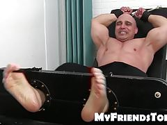 Feet fetish and tickling tormenting with older daddy and hun