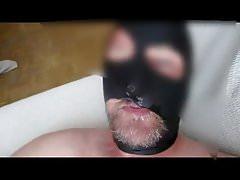 Sucking and drinking  cum