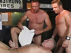 hot daddy and two younger men