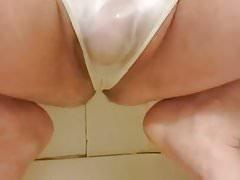 White panty piss