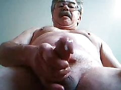 Mouistache daddy shooting his load