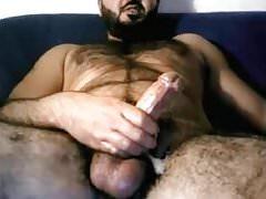 Hairy Italian Str8 Daddy Shoots a Nice Load #162