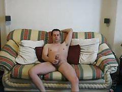 My Sofa Jerking With cumshot