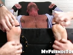 Feet tickling and tormenting with an classy hairy hunk