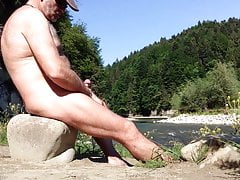 nudist ORGASM with a view