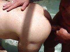 Fucking A Bud In The Hot Tub