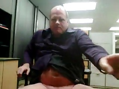 daddy wanking at the office