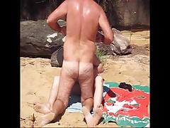 nat sucks joshs cock at the beach