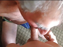 old guy sucking asian guy