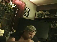 bear plays with himself